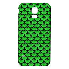 Scales3 Black Marble & Green Colored Pencil (r) Samsung Galaxy S5 Back Case (white)