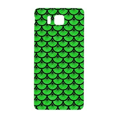 Scales3 Black Marble & Green Colored Pencil (r) Samsung Galaxy Alpha Hardshell Back Case