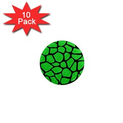 Skin1 Black Marble & Green Colored Pencil 1  Mini Magnet (10 Pack)