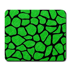 Skin1 Black Marble & Green Colored Pencil Large Mousepads