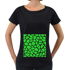 Skin1 Black Marble & Green Colored Pencil Women s Loose Fit T Shirt (black)