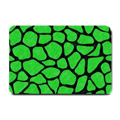 Skin1 Black Marble & Green Colored Pencil Small Doormat