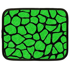 Skin1 Black Marble & Green Colored Pencil Netbook Case (large)