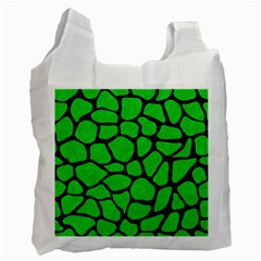 Skin1 Black Marble & Green Colored Pencil Recycle Bag (one Side)