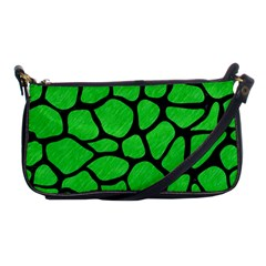 Skin1 Black Marble & Green Colored Pencil Shoulder Clutch Bags
