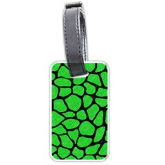 Skin1 Black Marble & Green Colored Pencil Luggage Tags (one Side)