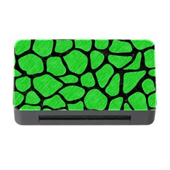Skin1 Black Marble & Green Colored Pencil Memory Card Reader With Cf