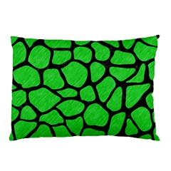 Skin1 Black Marble & Green Colored Pencil Pillow Case (two Sides)