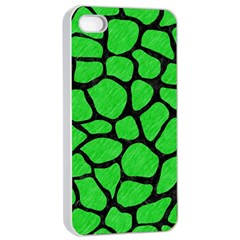 Skin1 Black Marble & Green Colored Pencil Apple Iphone 4/4s Seamless Case (white)