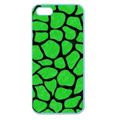 Skin1 Black Marble & Green Colored Pencil Apple Seamless Iphone 5 Case (color)