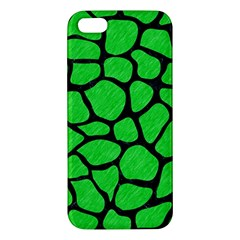 Skin1 Black Marble & Green Colored Pencil Apple Iphone 5 Premium Hardshell Case