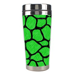 Skin1 Black Marble & Green Colored Pencil Stainless Steel Travel Tumblers