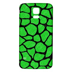 Skin1 Black Marble & Green Colored Pencil Samsung Galaxy S5 Back Case (white)