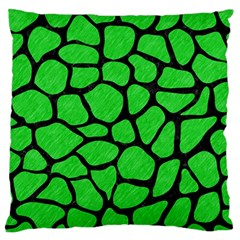 Skin1 Black Marble & Green Colored Pencil Standard Flano Cushion Case (two Sides)