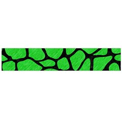 Skin1 Black Marble & Green Colored Pencil Flano Scarf (large)