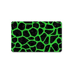 Skin1 Black Marble & Green Colored Pencil (r) Magnet (name Card)