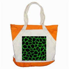 Skin1 Black Marble & Green Colored Pencil (r) Accent Tote Bag