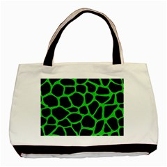 Skin1 Black Marble & Green Colored Pencil (r) Basic Tote Bag (two Sides)