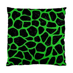Skin1 Black Marble & Green Colored Pencil (r) Standard Cushion Case (one Side)