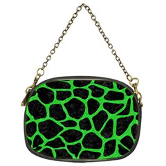 Skin1 Black Marble & Green Colored Pencil (r) Chain Purses (two Sides)