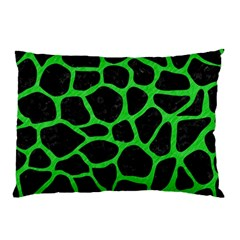 Skin1 Black Marble & Green Colored Pencil (r) Pillow Case