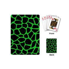 Skin1 Black Marble & Green Colored Pencil (r) Playing Cards (mini)