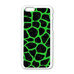 Skin1 Black Marble & Green Colored Pencil (r) Apple Iphone 6/6s White Enamel Case