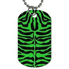 Skin2 Black Marble & Green Colored Pencil Dog Tag (two Sides)