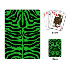 Skin2 Black Marble & Green Colored Pencil Playing Card