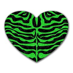 Skin2 Black Marble & Green Colored Pencil Heart Mousepads