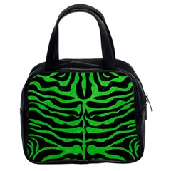Skin2 Black Marble & Green Colored Pencil Classic Handbags (2 Sides)