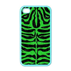 Skin2 Black Marble & Green Colored Pencil Apple Iphone 4 Case (color)
