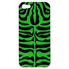 Skin2 Black Marble & Green Colored Pencil Apple Iphone 5 Hardshell Case