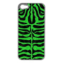 Skin2 Black Marble & Green Colored Pencil Apple Iphone 5 Case (silver)
