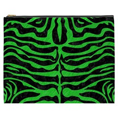 Skin2 Black Marble & Green Colored Pencil Cosmetic Bag (xxxl)