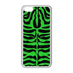 Skin2 Black Marble & Green Colored Pencil Apple Iphone 5c Seamless Case (white)