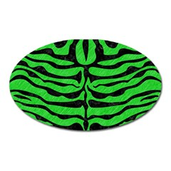 Skin2 Black Marble & Green Colored Pencil (r) Oval Magnet