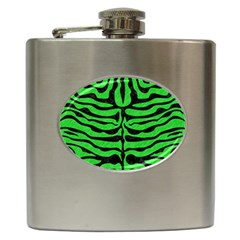 Skin2 Black Marble & Green Colored Pencil (r) Hip Flask (6 Oz)
