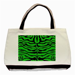 Skin2 Black Marble & Green Colored Pencil (r) Basic Tote Bag (two Sides)