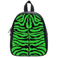 Skin2 Black Marble & Green Colored Pencil (r) School Bag (small)