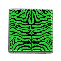 Skin2 Black Marble & Green Colored Pencil (r) Memory Card Reader (square)