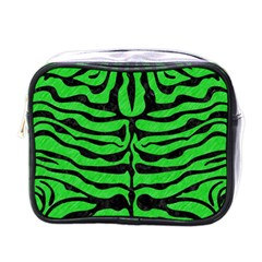 Skin2 Black Marble & Green Colored Pencil (r) Mini Toiletries Bags