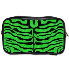 Skin2 Black Marble & Green Colored Pencil (r) Toiletries Bags 2 Side