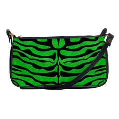 Skin2 Black Marble & Green Colored Pencil (r) Shoulder Clutch Bags