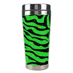 Skin2 Black Marble & Green Colored Pencil (r) Stainless Steel Travel Tumblers