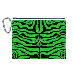 Skin2 Black Marble & Green Colored Pencil (r) Canvas Cosmetic Bag (l)