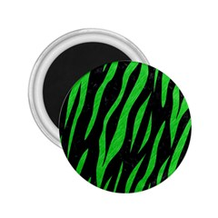 Skin3 Black Marble & Green Colored Pencil 2 25  Magnets