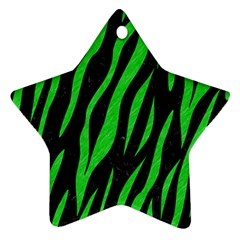 Skin3 Black Marble & Green Colored Pencil Ornament (star)