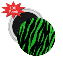 Skin3 Black Marble & Green Colored Pencil 2 25  Magnets (100 Pack)