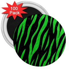 Skin3 Black Marble & Green Colored Pencil 3  Magnets (100 Pack)